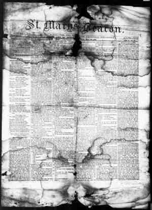 St. Mary's Beacon Gazetesi 26 Mayıs 1853 kapağı