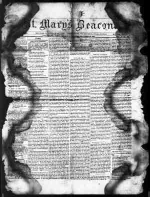 St. Mary's Beacon Gazetesi 22 Aralık 1853 kapağı
