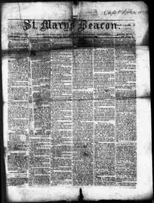 St. Mary's Beacon Gazetesi 2 Şubat 1854 kapağı