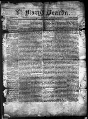 St. Mary's Beacon Gazetesi 4 Mayıs 1854 kapağı