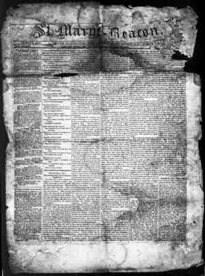 St. Mary's Beacon Gazetesi 25 Mayıs 1854 kapağı