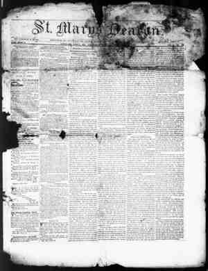 St. Mary's Beacon Gazetesi 16 Kasım 1854 kapağı