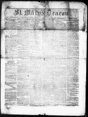St. Mary's Beacon Gazetesi 7 Aralık 1854 kapağı