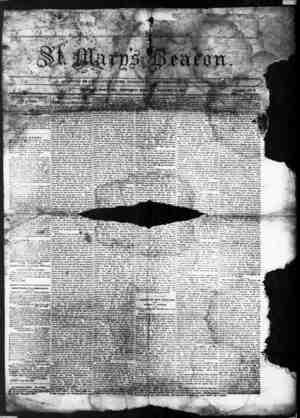 St. Mary's Beacon Gazetesi 15 Ocak 1857 kapağı
