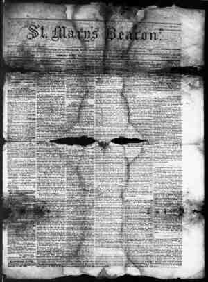 St. Mary's Beacon Gazetesi 22 Ocak 1857 kapağı