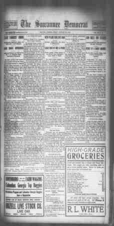 Suwannee Democrat Gazetesi 29 Ocak 1909 kapağı
