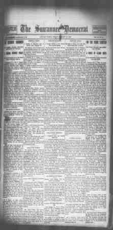Suwannee Democrat Gazetesi 12 Şubat 1909 kapağı