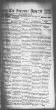 Suwannee Democrat Gazetesi 5 Mart 1909 kapağı