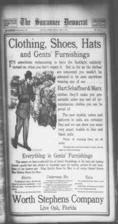 Suwannee Democrat Gazetesi 2 Nisan 1909 kapağı