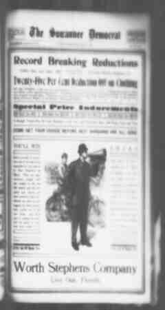 Suwannee Democrat Gazetesi 21 Mayıs 1909 kapağı