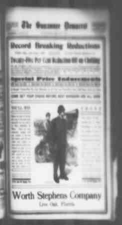 Suwannee Democrat Gazetesi 4 Haziran 1909 kapağı