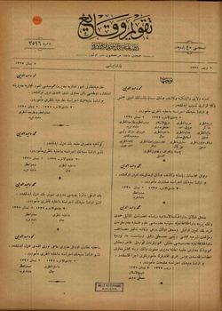 Takvim-i Vekayi Gazetesi 7 Nisan 1919 kapağı