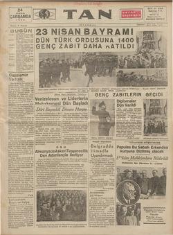 Tan Gazetesi 24 Nisan 1935 kapağı