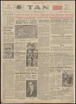 Tan Gazetesi 26 Nisan 1935 kapağı