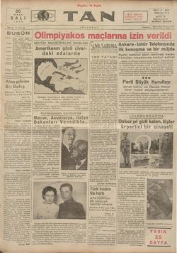 Tan Gazetesi 30 Nisan 1935 kapağı