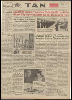 Tan Gazetesi 1 Mayıs 1935 kapağı