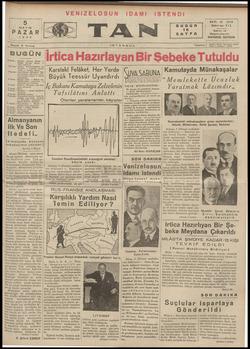 Tan Gazetesi 5 Mayıs 1935 kapağı