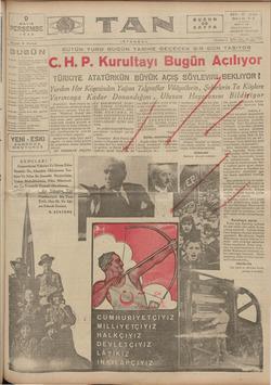 Tan Gazetesi 9 Mayıs 1935 kapağı