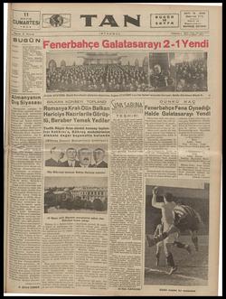 Tan Gazetesi 11 Mayıs 1935 kapağı