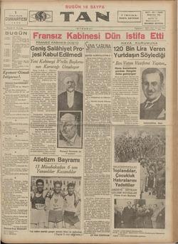 1 HAZIRAN CUMARTESİ 19385 ı Sayısı 5 Kuruş 2 incide * 3 üncüde : el Ağa oğ. n yazısı — Feleğin fık. h n Azız Hüdayi...