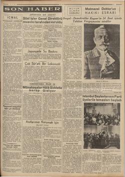 m —— SON FIABERFe 13-8-935 mm — FRANSADAKİ HADİSELER Paristen gelen haberler, Fransa - Bn birçok Jimanlarında işçilerin...