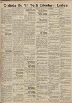 e 29-8.935 Orduda Bu Yıl Terfi Edenlerin Listesi i (Bi; tarafı 1 incide) İk M. Fasih Mersin, Davut Zeki Yarbekir, A, Muhtar