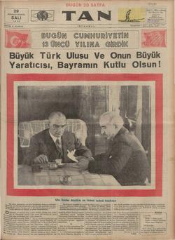 29 BIRINCITEŞRİN SALI | 1935 J mz SAYISI 5 KURUŞ Büyük Türk Ulusu Ve Onun UGÜ ISTANBUL N CUMA URİYETİN GİRDİK a mmlik kübik