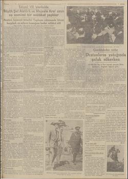 AREA Eğe deyi verdi: Edvard Vİ istanbulda Büyük Şef Atatürk ip .e Majeste Kra! uzun ve samimi bir mülâkat yaptılar Atatürk