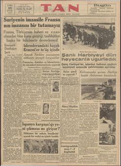 TA btanbal TELEFON £ TELGRAF : CUMA 25 EYLÜL 1936 SR Suriyenin imzasile Fransa N EVİ Ankara caddesi 24318, 24819, 24310,