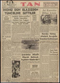 "PAZAR 20 HAZIRAN""İ 1937   EÜĞRAP ; ÜÇÜNCÜ S KURUŞ JAN, İSTANBUL YIL — No. 180 ğ BAŞMUHARRIRİI: AHMET EMİN YALMAN İNÖNÜ DÜN"
