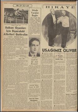 5 ş ç ; 5 , ; A 935 te İstanbulda yapılan Balkan oyunlarında manialı koşuyu kazanan Yunanlı atlet Balkan Oyunları İçin...