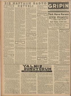 | Pazar: 20-2-1938 | S$ENFONİLER 8.15 Berlin kına dalgası: Senfonik kon- ser. 1440 Roma kısa dalışas: Senfonik konser,...