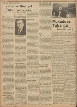 | ane iielidiin ME A a e Bağ Ne İnkılâp Tarihimizden: Vatan ve Hürriyet İttihat ve Terakki — Türk Tarih Ku- rumu Asbaşkanı