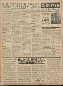* A 4 © Pazar, 15.5.1938 Mama SENFONİLER 11. lin kama dalgası Senfonik konser, 22 Roma; Pari: Senfonik konser. HAFİF...