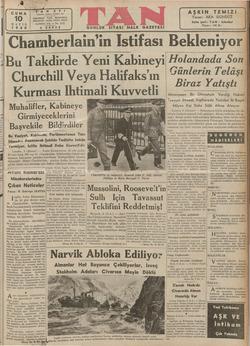 > a » pe w A N Ankara Csddeni 102 TELEFON: 243 ALTINCI YIL — No. 1715 s KURUŞ Evi İSTANBUL , 24318, 24319 Muhalifler,...