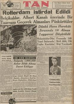 MAYIS 1940 5 K Belçika Taarruza Ge 04310, 24318, 24319 YIL — No. 1718 URUŞ rdam istirdat Edildi lılar, Albert Kanalı...
