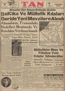 Almanlar Dun Aksşam Öörüksele Girdiler BeIÇıka Ve Müttefik Kıtaları ( GerıdeYenı MevzılereAlındı