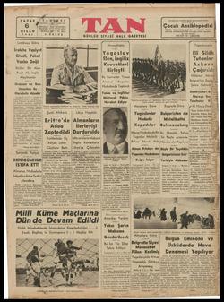 Bİ İSTANBUL,   a .GRAF: EN 1941 Londraya Göre İrak'ta Vaziyet Ciddi, Fakat Vahim Değil İktidarı Ele Alan Raşit Ali, İngiliz