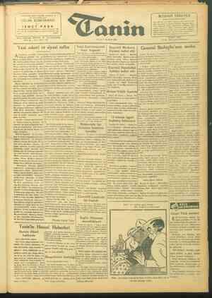 Tanin Gazetesi 21 Eylül 1943 kapağı
