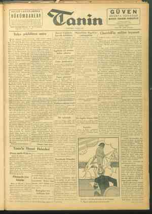 Tanin Gazetesi 22 Eylül 1943 kapağı