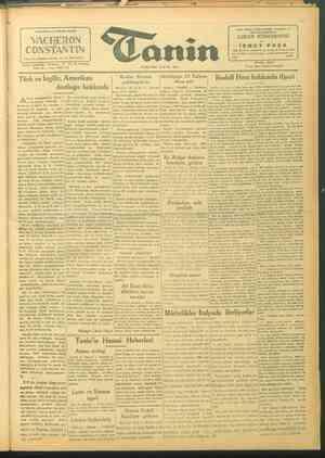 Tanin Gazetesi 23 Eylül 1943 kapağı