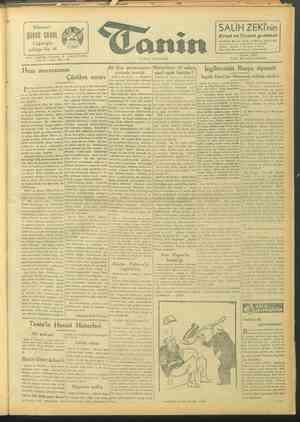 Tanin Gazetesi 24 Eylül 1943 kapağı