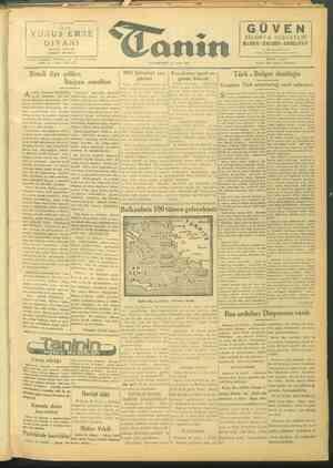 Tanin Gazetesi 25 Eylül 1943 kapağı