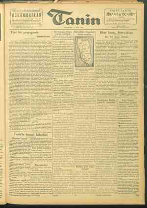 Tanin Gazetesi 27 Eylül 1943 kapağı