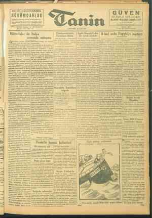 Tanin Gazetesi 29 Eylül 1943 kapağı