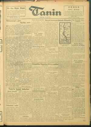 Tanin Gazetesi 30 Eylül 1943 kapağı
