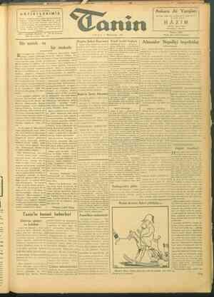 Tanin Gazetesi 1 Ekim 1943 kapağı