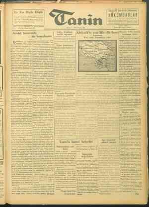 Tanin Gazetesi 5 Ekim 1943 kapağı