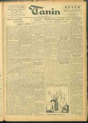 Tanin Gazetesi 6 Ekim 1943 kapağı