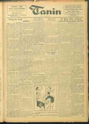 Tanin Gazetesi 8 Ekim 1943 kapağı